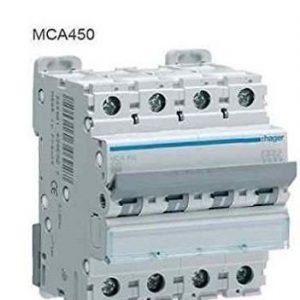 Interruptor magnetotérmico 4 mod