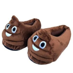 Zapatillas de casa emoticono de la mierda